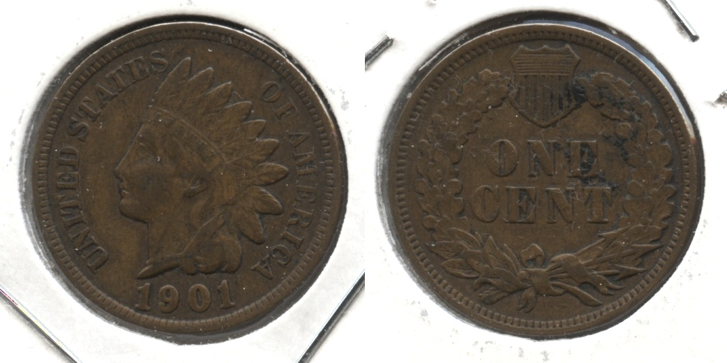 1901 Indian Head Cent VF-20 #t