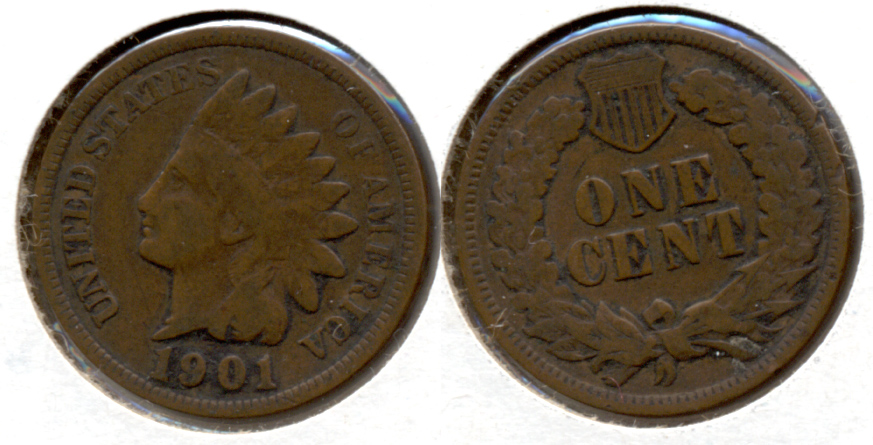 1901 Indian Head Cent VG-8