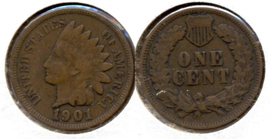 1901 Indian Head Cent VG-8 a