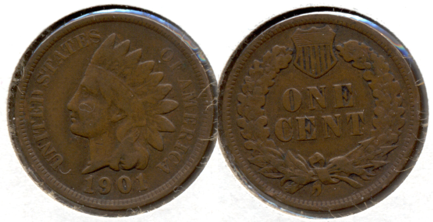 1901 Indian Head Cent VG-8 b