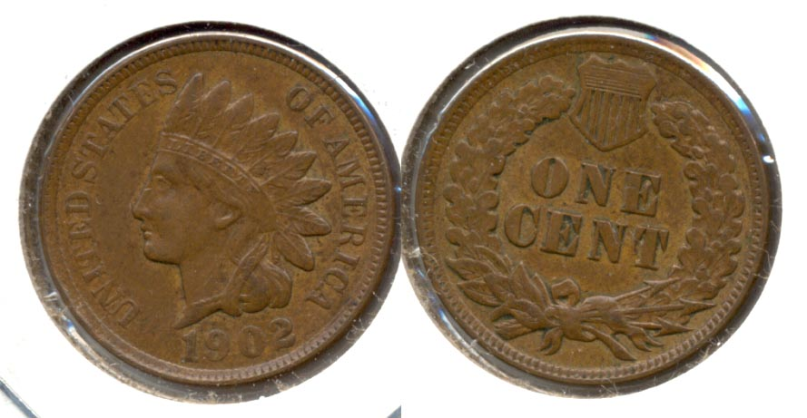 1902 Indian Head Cent AU-50 k