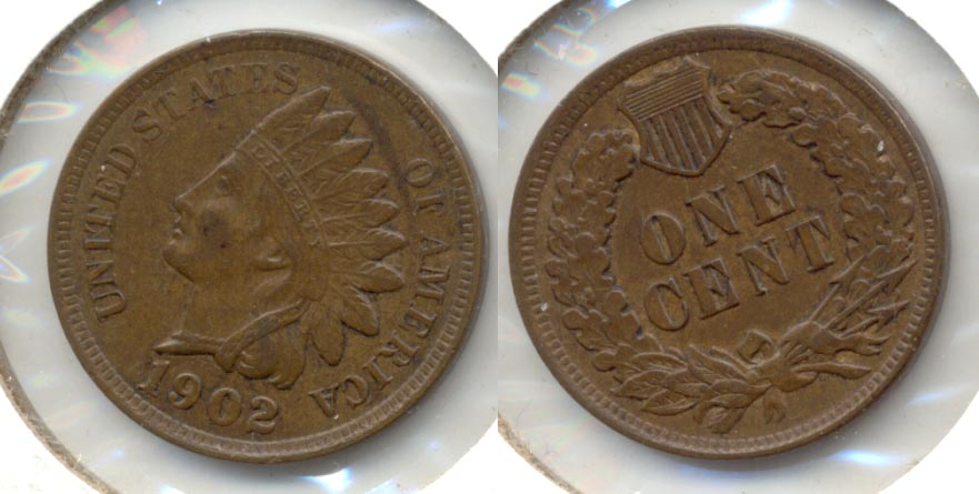 1902 Indian Head Cent AU-50 m