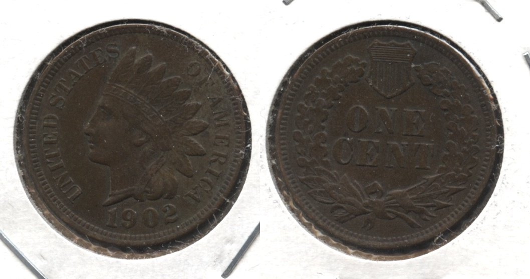 1902 Indian Head Cent EF-40 #n