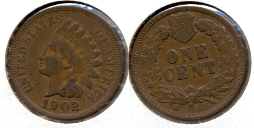 1902 Indian Head Cent Fine-12 a