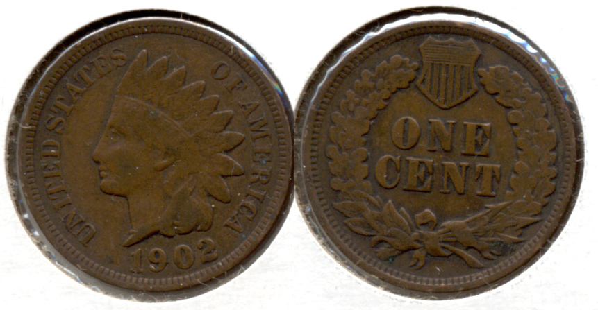 1902 Indian Head Cent Fine-12 b