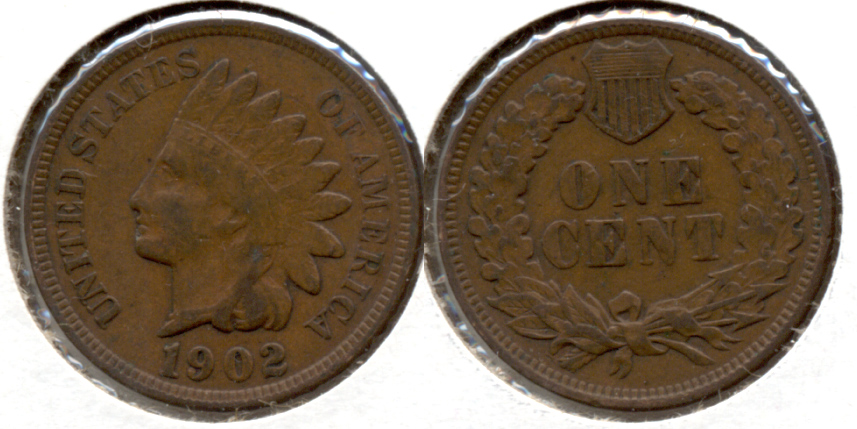 1902 Indian Head Cent Fine-12 c