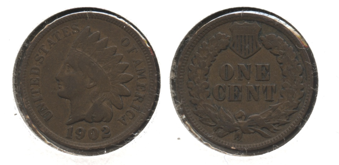 1902 Indian Head Cent Fine-12 #k