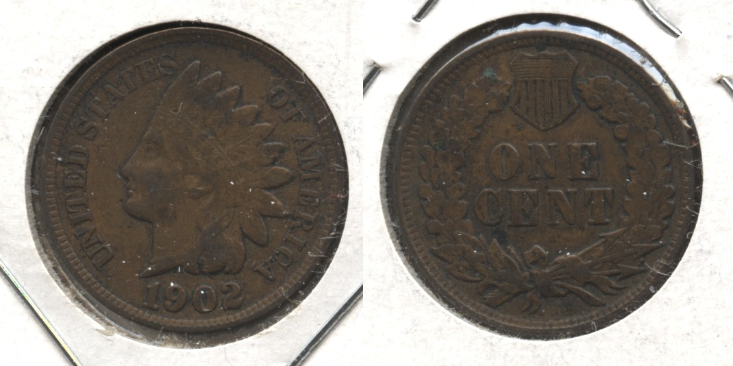 1902 Indian Head Cent Fine-12 #l