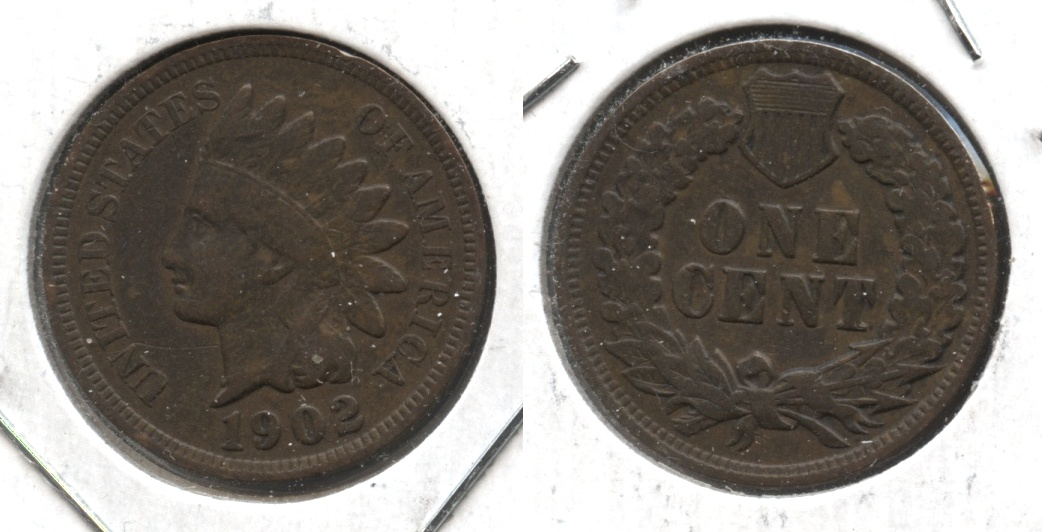 1902 Indian Head Cent Fine-12 #n