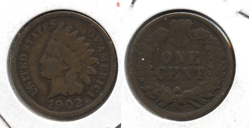 1902 Indian Head Cent Good-4 #h