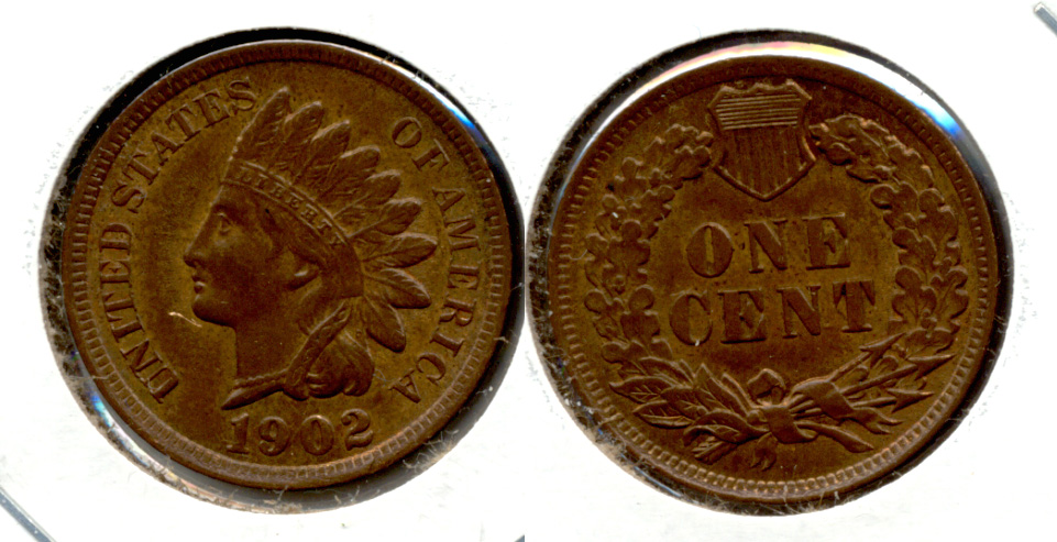 1902 Indian Head Cent MS-60 Brown a
