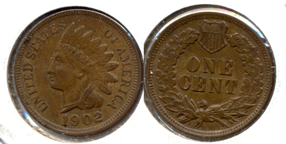 1902 Indian Head Cent MS-63 Brown c