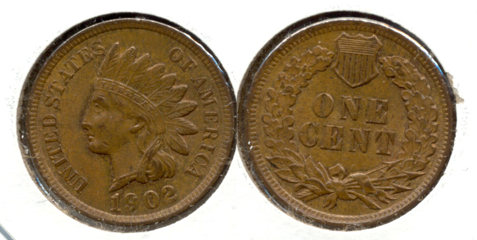 1902 Indian Head Cent MS-63 Brown d