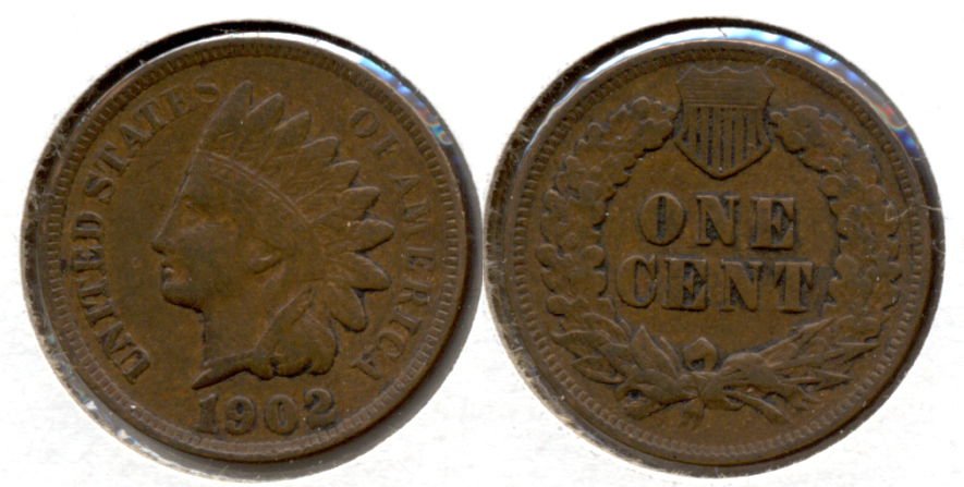 1902 Indian Head Cent VF-20