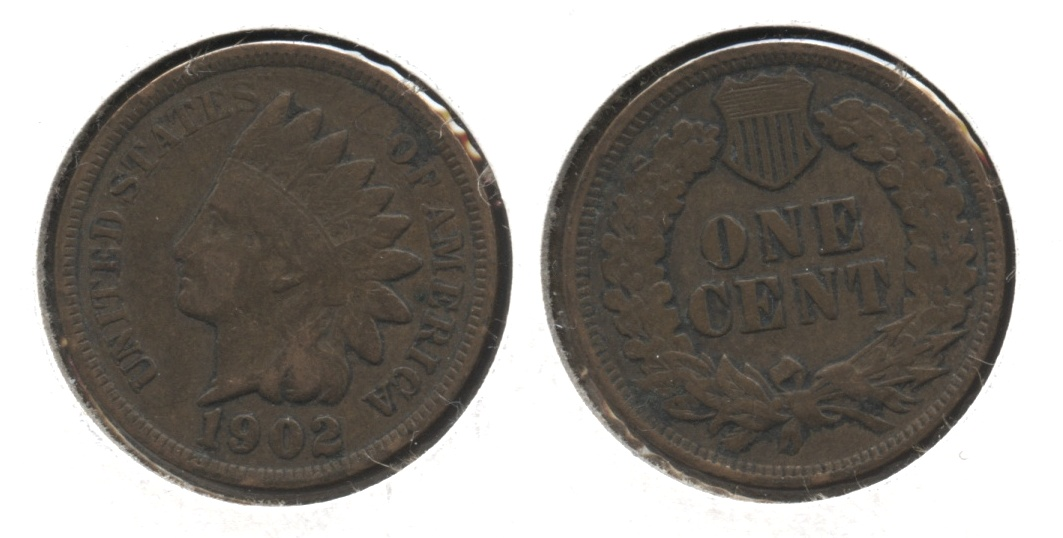 1902 Indian Head Cent VF-20 #ad
