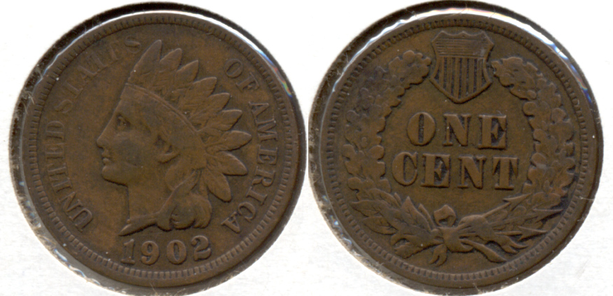 1902 Indian Head Cent VF-20 l