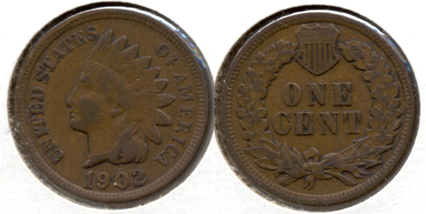 1902 Indian Head Cent VF-20 n