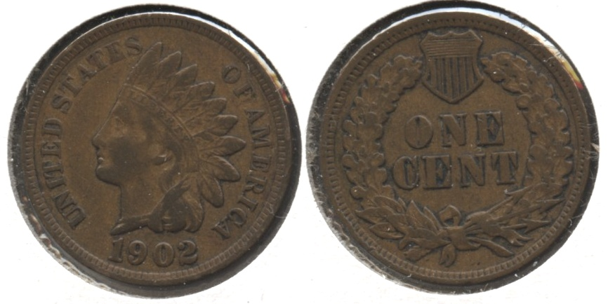 1902 Indian Head Cent VF-20 #s