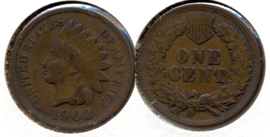 1902 Indian Head Cent VG-8 b
