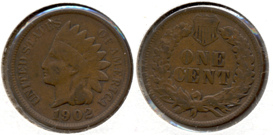 1902 Indian Head Cent VG-8 e