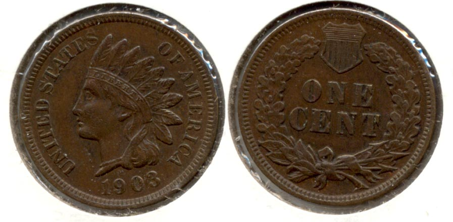 1903 Indian Head Cent AU-50 b