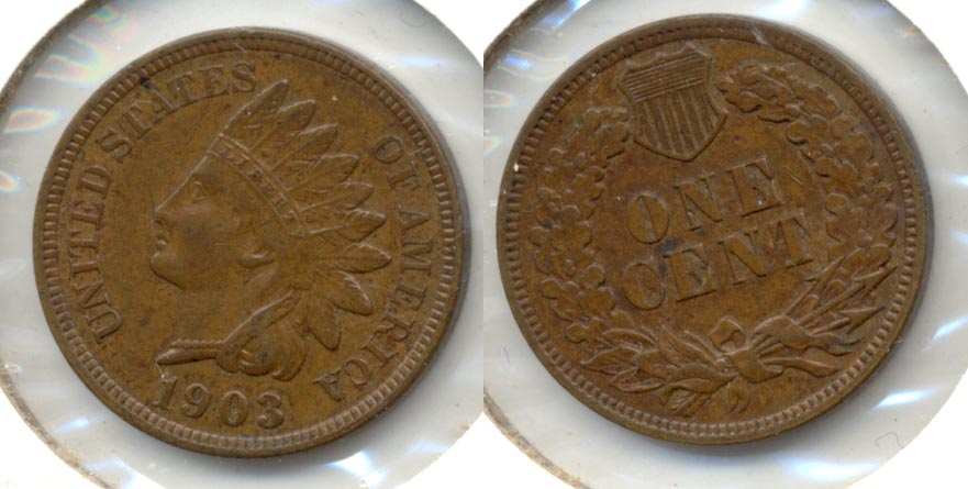 1903 Indian Head Cent AU-50 c