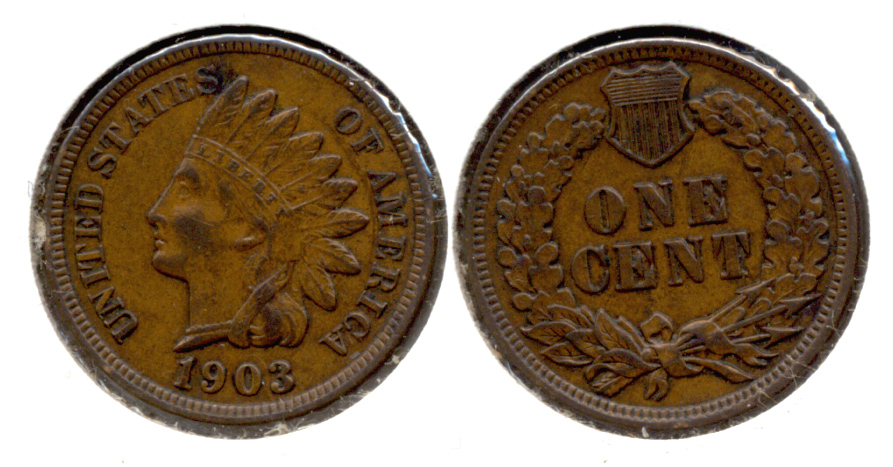 1903 Indian Head Cent AU-50 e