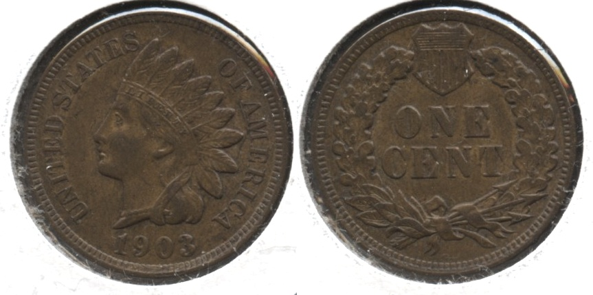 1903 Indian Head Cent AU-55 #c