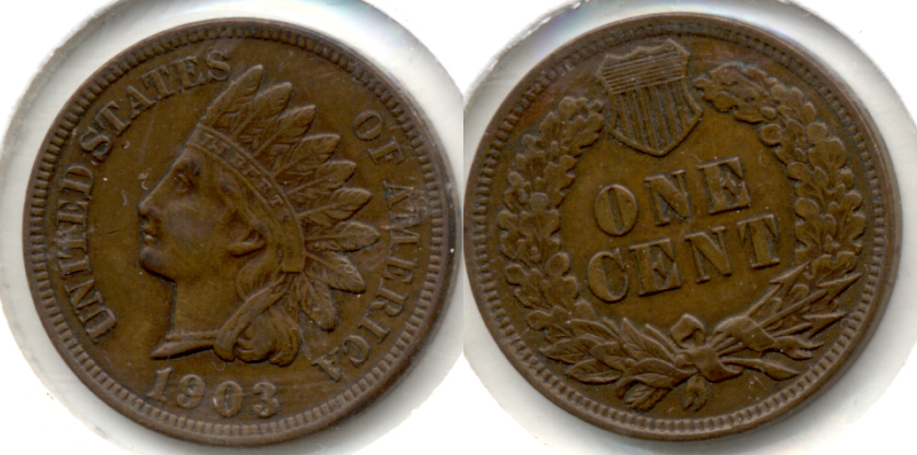 1903 Indian Head Cent EF-40 d