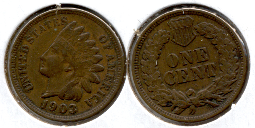 1903 Indian Head Cent Fine-12 a