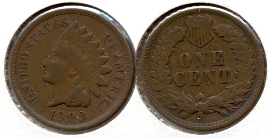 1903 Indian Head Cent Fine-12 b