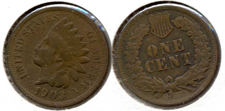 1903 Indian Head Cent Fine-12 f