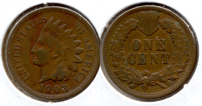1903 Indian Head Cent Fine-12 g