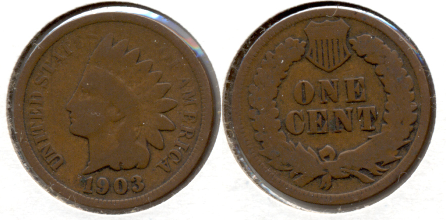 1903 Indian Head Cent Good-4