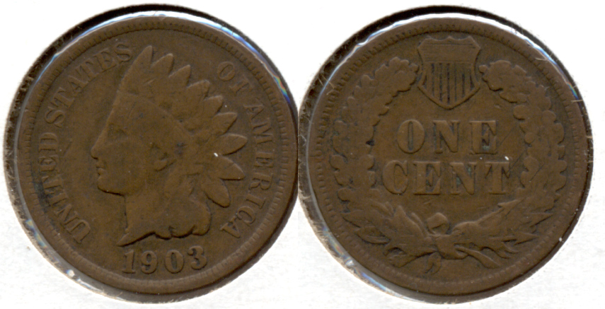 1903 Indian Head Cent Good-4 c