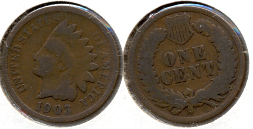 1903 Indian Head Cent Good-4 d