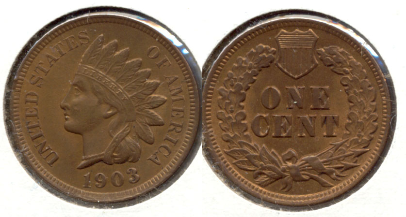 1903 Indian Head Cent MS-63 Brown