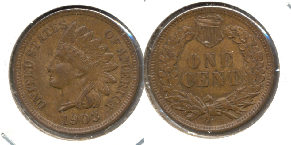 1903 Indian Head Cent MS-63 Brown d