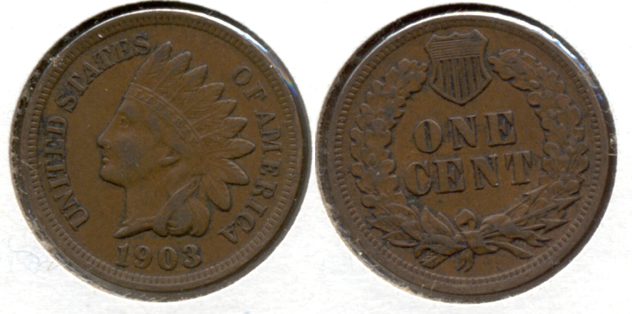 1903 Indian Head Cent VF-20 g