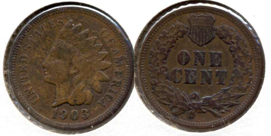 1903 Indian Head Cent VF-20 n