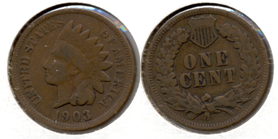 1903 Indian Head Cent VG-8 d