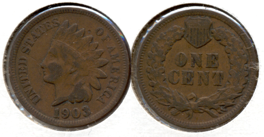 1903 Indian Head Cent VG-8 f