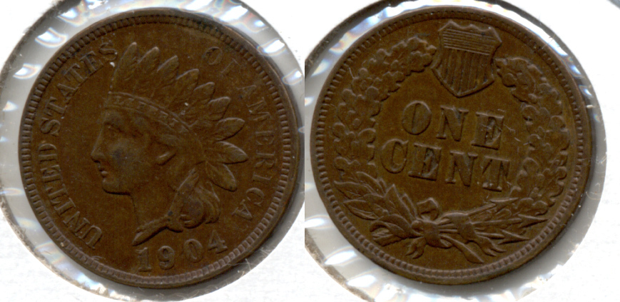 1904 Indian Head Cent EF-40 h