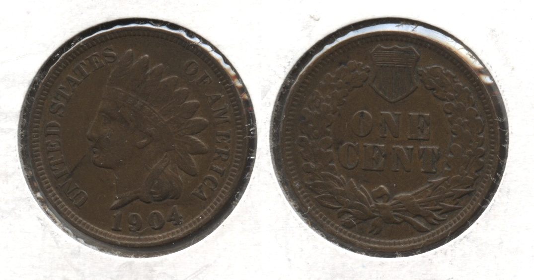 1904 Indian Head Cent EF-40 #l