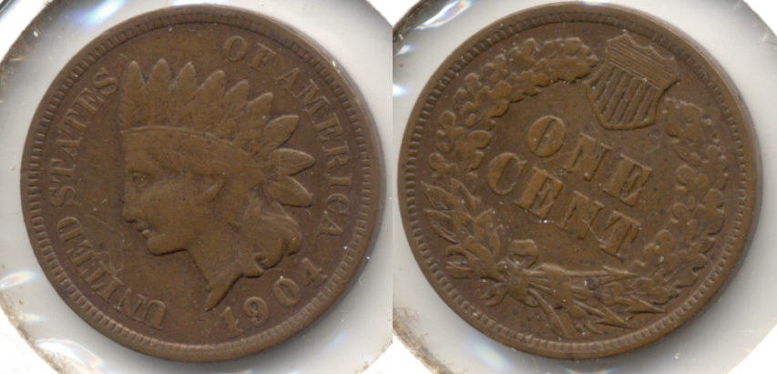 1904 Indian Head Cent Fine-12 c