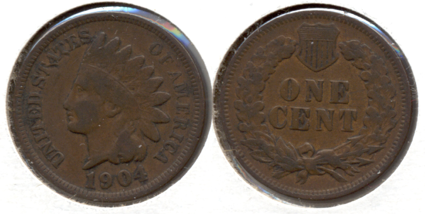 1904 Indian Head Cent Fine-12 g