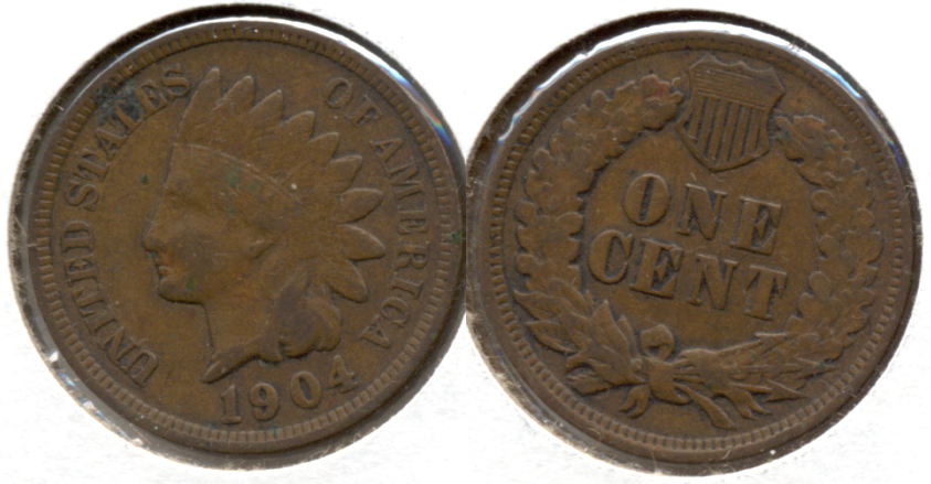 1904 Indian Head Cent Fine-12 j