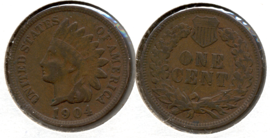 1904 Indian Head Cent Fine-12 m