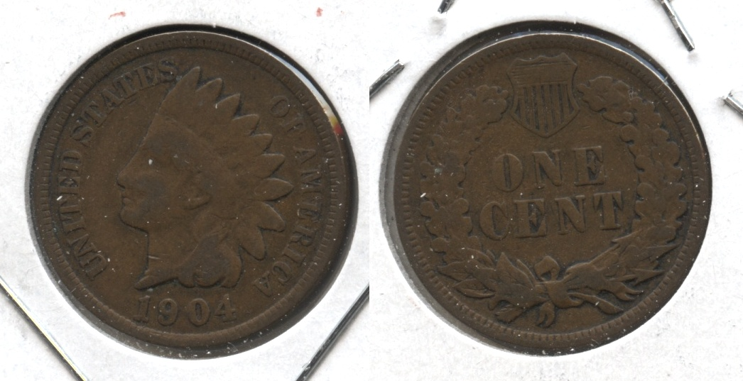 1904 Indian Head Cent Good-4 #f