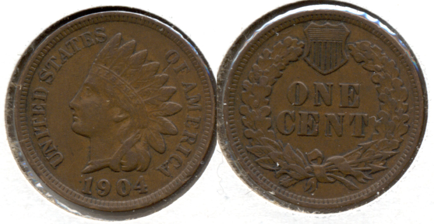 1904 Indian Head Cent VF-20 a